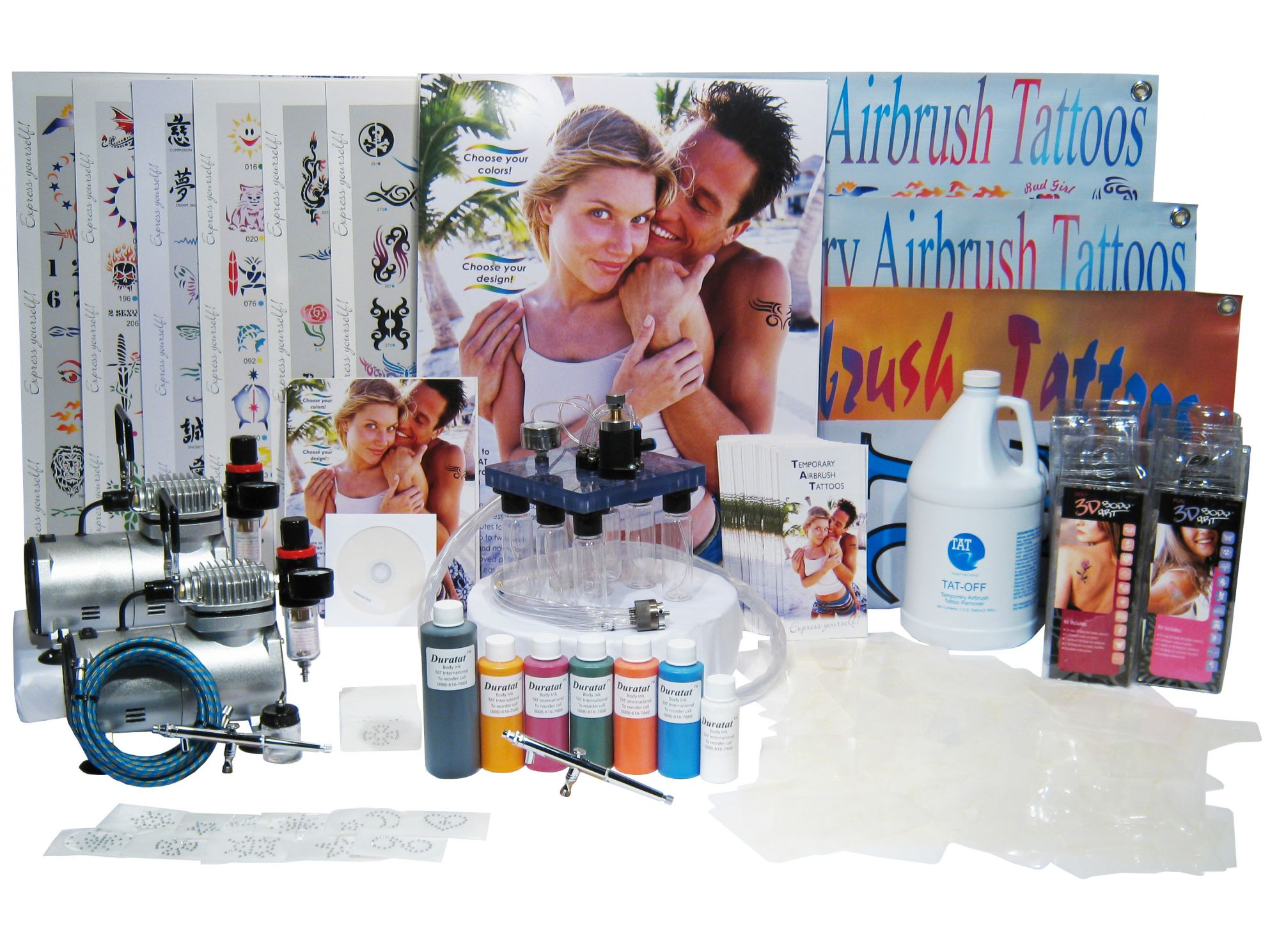 Day spa and salon supplies for Airbrush tattoo kit
